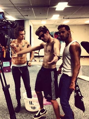 HOT PICTURE! Topless Harry Styles and Niall Horan pull ...