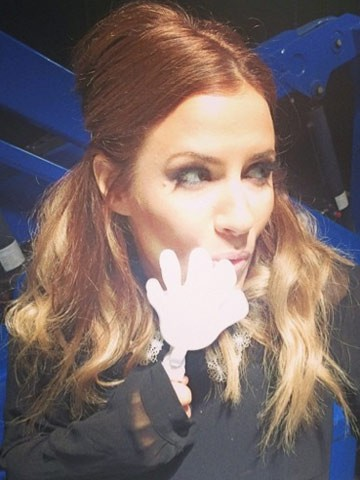 Home! Caroline Flack takes romantic selfie in bed with ...